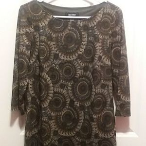 Nine West Knit Sweater Dress Perfect For Thanksgiv